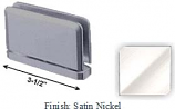Satin Nickel Antap 168B Series Beveled Round Edges Top or Bottom Mount Pivot Hinge with Optional Adapter Block - AN168B_SN
