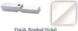 Brushed Nickel Adapter Block for Antap 268B Series Pivot Hinge - AN268AD_BN