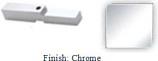 Chrome Adapter Block for Antap 268B Series Pivot Hinge - AN268AD_CR