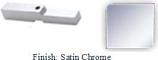 Satin Nickel Adapter Block for Antap 268B Series Pivot Hinge - AN268AD_SN
