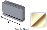 Brass Antap 268B Series Beveled Round Edges Top or Bottom Mount Pivot Hinge with Optional Adapter Block - AN268B_BR