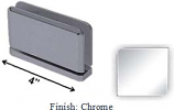 Chrome Antap 268B Series Beveled Round Edges Top or Bottom Mount Pivot Hinge with Optional Adapter Block - AN268B_CR