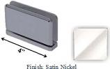 Satin Nickel Antap 268B Series Beveled Round Edges Top or Bottom Mount Pivot Hinge with Optional Adapter Block - AN268B_SN