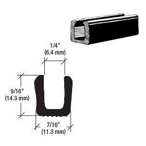 "CRL Glass and Acrylic Setting Rubber Channel for 1/4"" Material - 7/16"" Base Width CRL AV4588"