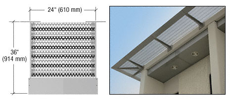"CRL Metallic Silver 24"" 7750 Center Panel CRL AW7750C24"