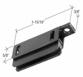 "CRL Sliding Screen Door 1-15/16"" x 3/8"" Bottom Guide for Ador/HiLite Doors CRL B545"