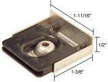 """Sliding Screen Door 1-11/16"""" x 1/2"""" Bottom Guide for Ador/HiLite """"Z"""" Doors - CRL B546 Pack of 2"""