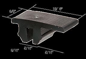 "CRL Sliding Screen Door 13/16"" x 3/8"" Nylon Top Guide CRL B562"