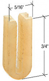 """3/4"""" Sliding Screen Door Bottom Guide for Daryl Doors - CRL B594 Pack of 4"""