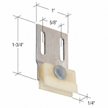 """1-3/4"""" Sliding Screen Door Bottom Guide for Croft Doors - CRL B626 Pack of 2"""