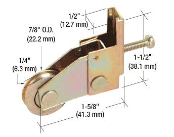 """CRL 7/8"""" Steel Ball Bearing Sliding Screen Door Bottom Roller for Pacesetter Doors CRL B669"""