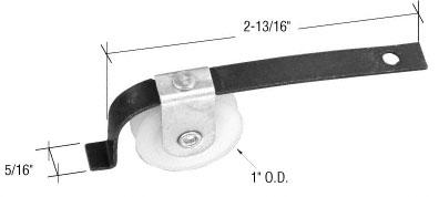 1 Inch Nylon Sliding Screen Door Spring Tension Roller for Academy Doors - CRL B681 Pack of 2