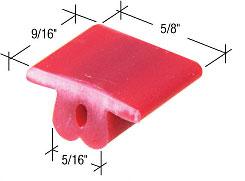 """9/16"""" x 5/8"""" Nylon Sliding Screen Door Top Guide - CRL B780 Pack of 4"""