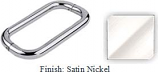 Satin Nickel 8 inch Back-To-Back Solid Aluminum 3/4 inch Diameter Pull Handles with Optional Metal Washers - BA608PSN