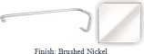 Brushed Nickel 8 inch Pull Handle and 18 inch Towel Bar Combination with Optional Metal Washers - BAF60818BN