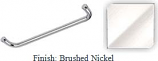 Brushed Nickel 24 inch Tubular 3/4 inch Diameter Single Side Towel Bar With Optional Metal Washers - BNF624BN