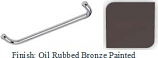 Oil Rubbed Bronze Painted 24 inch Tubular 3/4 inch Diameter Single Side Towel Bar With Optional Metal Washers - BNF624ORB