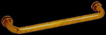 "CRL Antique Brass 12"" BM Series Tubular Single-Sided Towel Bar CRL BM12ABR"