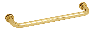 "CRL Polished Brass 12"" BM Series Tubular Single-Sided Towel Bar CRL BM12BR"