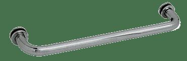 "CRL Polished Nickel 12"" BM Series Tubular Single-Sided Towel Bar CRL BM12PN"