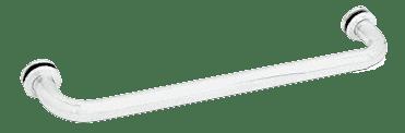 "CRL White 12"" BM Series Tubular Single-Sided Towel Bar CRL BM12W"