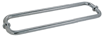 "CRL Brushed Nickel 12"" BM Series Back-to-Back Tubular Towel Bars With Metal Washers CRL BM12X12BN"