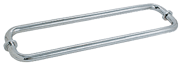 "CRL Brushed Satin Chrome 12"" BM Series Back-to-Back Tubular Towel Bars With Metal Washers CRL BM12X12BSC"