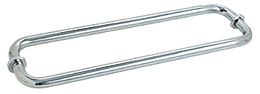 "CRL Polished Chrome 12"" BM Series Back-to-Back Tubular Towel Bars With Metal Washers CRL BM12X12CH"