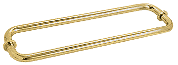 "CRL Satin Brass 12"" BM Series Back-to-Back Tubular Towel Bars With Metal Washers CRL BM12X12SB"