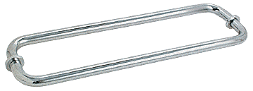 "CRL Satin Chrome 12"" BM Series Back-to-Back Tubular Towel Bars With Metal Washers CRL BM12X12SC"