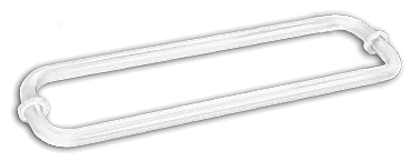 "CRL White 12"" BM Series Back-to-Back Tubular Towel Bars With Metal Washers CRL BM12X12W"