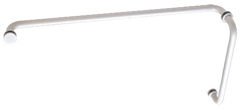 White (BM Series) 12 inch Pull Handle 24 inch Towel Bar Combination with Metal Washers - CRL BM12X24W