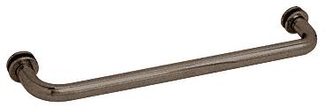 """CRL Oil Rubbed Bronze 18"""" BM Series Tubular Single-Sided Towel Bar CRL BM180RB"""