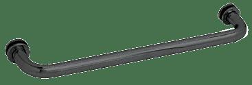 "CRL Matte Black 18"" BM Series Tubular Single-Sided Towel Bar CRL BM18MBL"