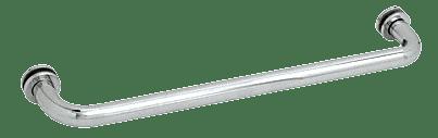 "CRL Polished Chrome 20"" BM Series Tubular Single-Sided Towel Bar CRL BM20CH"