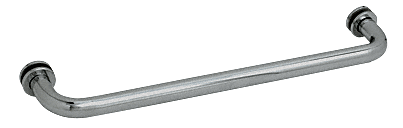 "CRL Polished Nickel 20"" BM Series Tubular Single-Sided Towel Bar CRL BM20PN"