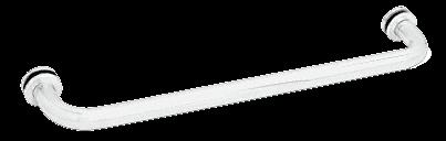 "CRL White 20"" BM Series Tubular Single-Sided Towel Bar CRL BM20W"