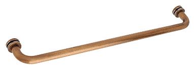 "CRL Antique Brass 22"" BM Series Tubular Single-Sided Towel Bar CRL BM22ABR"