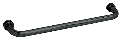 "CRL Black 22"" BM Series Tubular Single-Sided Towel Bar CRL BM22BL"