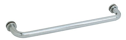22 inch Brushed Satin Chrome (BM Series) Tubular Single-Sided Towel Bar - CRL BM22BSC