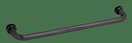 "CRL Matte Black 24"" BM Series Tubular Single-Sided Towel Bar CRL BM24MBL"
