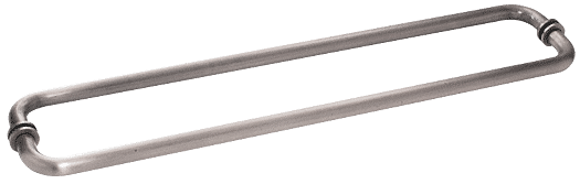 "CRL Antique Brushed Nickel 24"" BM Series Back-to-Back Tubular Towel Bars With Metal Washers CRL BM24X24ABN"