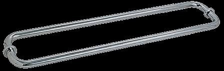 "CRL Brushed Nickel 24"" BM Series Back-to-Back Tubular Towel Bars With Metal Washers CRL BM24X24BN"