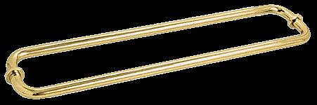 "CRL Polished Brass 24"" BM Series Back-to-Back Tubular Towel Bars With Metal Washers CRL BM24X24BR"