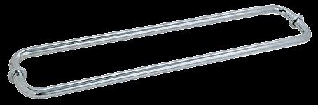 "CRL Brushed Satin Chrome 24"" BM Series Back-to-Back Tubular Towel Bars With Metal Washers CRL BM24X24BSC"