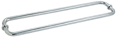 "CRL Polished Chrome 24"" BM Series Back-to-Back Tubular Towel Bars With Metal Washers CRL BM24X24CH"