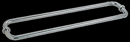 "CRL Polished Nickel 24"" BM Series Back-to-Back Tubular Towel Bars With Metal Washers CRL BM24X24PN"