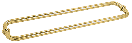 "CRL Satin Brass 24"" BM Series Back-to-Back Tubular Towel Bars With Metal Washers CRL BM24X24SB"