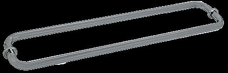 "CRL Satin Nickel 24"" BM Series Back-to-Back Tubular Towel Bars With Metal Washers CRL BM24X24SN"