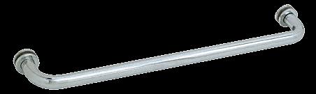 "CRL Brushed Satin Chrome 26"" BM Series Tubular Single-Sided Towel Bar CRL BM26BSC"